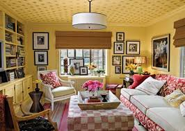 Houses Yellow Family Room Lounge Couch Sofa Style Chair Interior - Family room definition