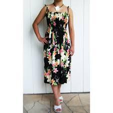 nadina black tube top hawaiian dress 609r nadina black 38 00