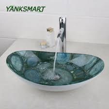 Vessel Vanity Online Get Cheap Oval Vanity Sink Aliexpress Com Alibaba Group
