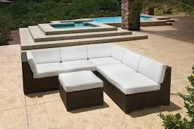 White Modern Outdoor Furniture by Terrace U0026 Garden Outdoor Furniture Idea With White Sectional Sofa