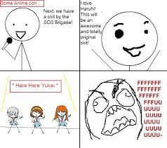 Meme Comic Anime - anime con rage comic by s0methingw1cked on deviantart