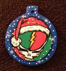 ornament jerry garcia top hat ornament custom painted