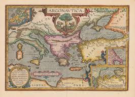 Old Treasure Map Argonavtica Map By Abraham Ortelius Painting Ideas Pinterest