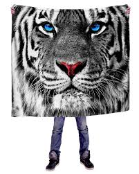 white tiger throw blanket 50 x 60 blanket into the am