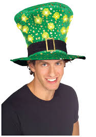 Light Up Halloween Costumes St Patricks Day Light Up Hat