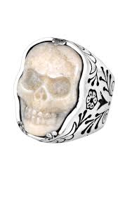 ivory ring mens carved ivory ring silver ivory skull rings for men king