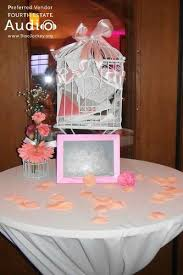 wedding gift table pinstripes in northbrook chicago wedding dj