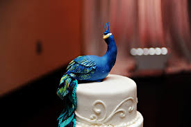 peacock wedding cake topper purple peacock inspired wedding at parkland golf country club in