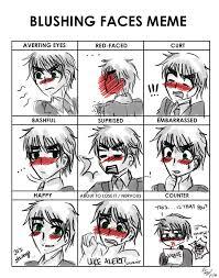 Sex Face Meme - blushing faces meme by thegweny on deviantart
