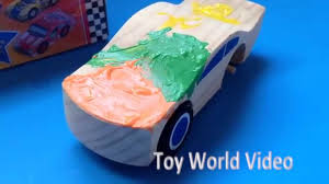 rainbow glitter car melissa and doug decorate your own race car paint toy wooden car