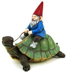 large garden gnome turtle statue patio pool style