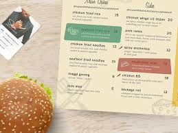 Designing A Restaurant Kitchen Restaurant Kitchen Menu Design By Sambruce On Envato Studio