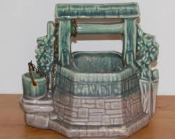 wishing well planter etsy