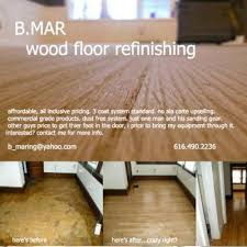 b mar wood floor refinishing grand rapids mi