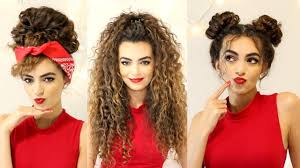 haircuts and styles for curly hair curly hairstyles for a semi bad hair day itsrimi youtube