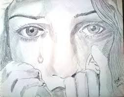 crying pencil sketch real photo pictures images and