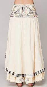 people rises in the east maxi skirt high low ruffle beaded