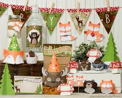 baby shower supplies forest animals decorating of party