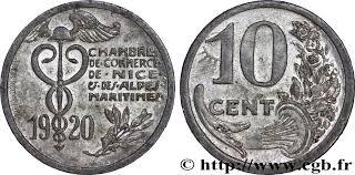 chambre de commerce de et des alpes maritimes 10 centimes