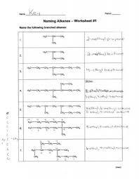 naming alkanes worksheet 1 answers free worksheets library