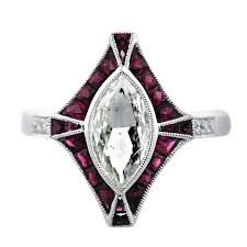 ruby engagement ring 1 carat marquise cut platinum ruby engagement ring for