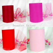tulle spools pink tulle roll spool 6x100 yard tutu wedding gift bow bridal