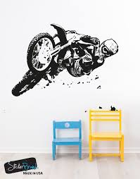 vinyl wall decal sticker motocross riding os aa196