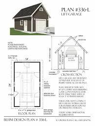 Garage Blueprints Two Car Garage With Shop Plan 1152 3 24 U0027 X 48 U0027 By Behm Design
