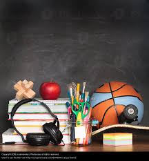 Sports Desk Accessories Notepad With Pencil And Other Accessories A Royalty Free Stock