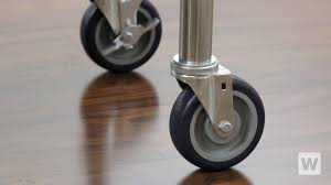 Table Legs With Casters by How To Install Regency Casters Youtube
