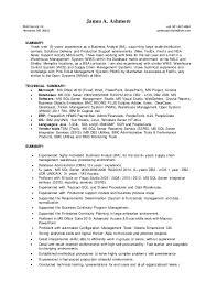 business analysis resume james ashmore business analyst resume