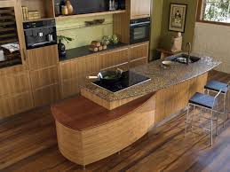 One Wall Kitchen Ideas by Kitchen Cozy And Natural Bamboo Floor In Kitchen Designs
