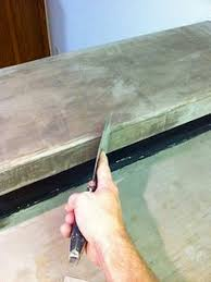 Diy Redo Kitchen Countertops - covering laminate countertops with a layer of concrete