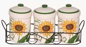 sunflower kitchen canisters kitchen storage ceramic canister sunflower design 3 spice