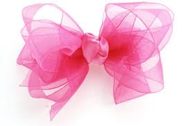 pink hair bow organza hair bow simply bows