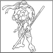 teenage mutant ninja turtles donatello coloring picture kids
