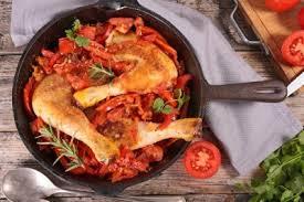 cuisine poulet basquaise poulet basquaise recette volailles et gibiers supertoinette