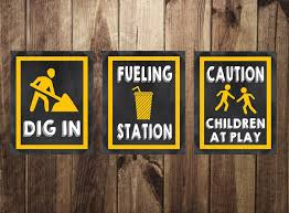 themed signs adorable construction themed signs to print for your construction