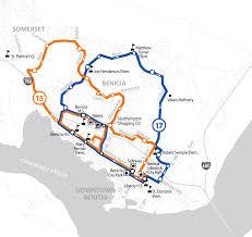 Solano County Map Soltrans Routes 15 17 U2013 Benicia Schools