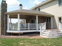 simple porch designs partially covered deck large covered deck