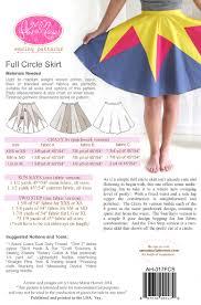 anna maria horner sewing pattern full circle skirt