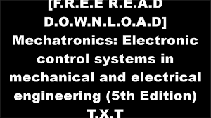 jts81 free download mechatronics electronic control systems in