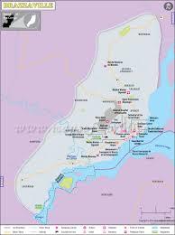 Congo Map Brazzaville Map Map Of Brazzaville City Congo
