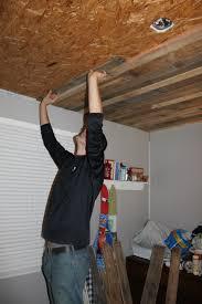 bathroom wood ceiling ideas remodelaholic rustic pallet wood ceiling tutorial