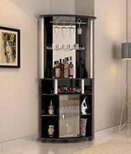 Bar Storage Cabinet Home Corner Bars Ebay