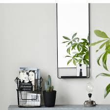 mirror w shelf chic vertical black house doctor nordic