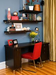 red interior design interior design cozy dark wood desk with red parsons chair and