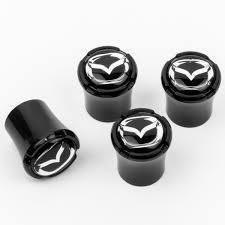 mazda made in usa mazda logo black tire valve caps