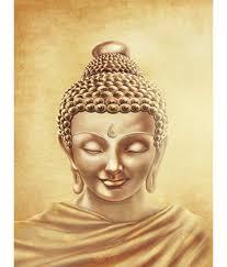 retcomm art painting meditating buddha yellow pencil sketch buy