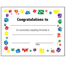 5th grade graduation certificate template 28 images edith